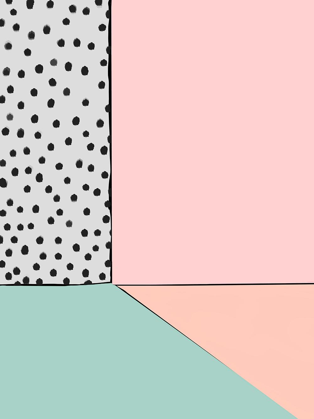 Abstract Interior I by Jules Tillman, 2016 Digital Painting