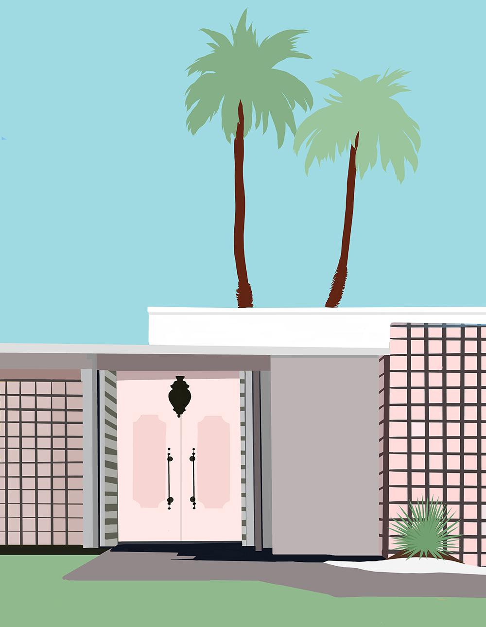 Palm Springs I by Jules Tillman, 2016 Digital Painting