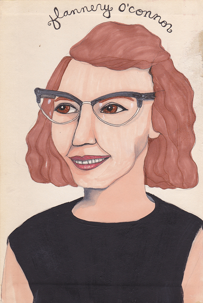 Flannery O'Conner by Jules Tillman, 2010
