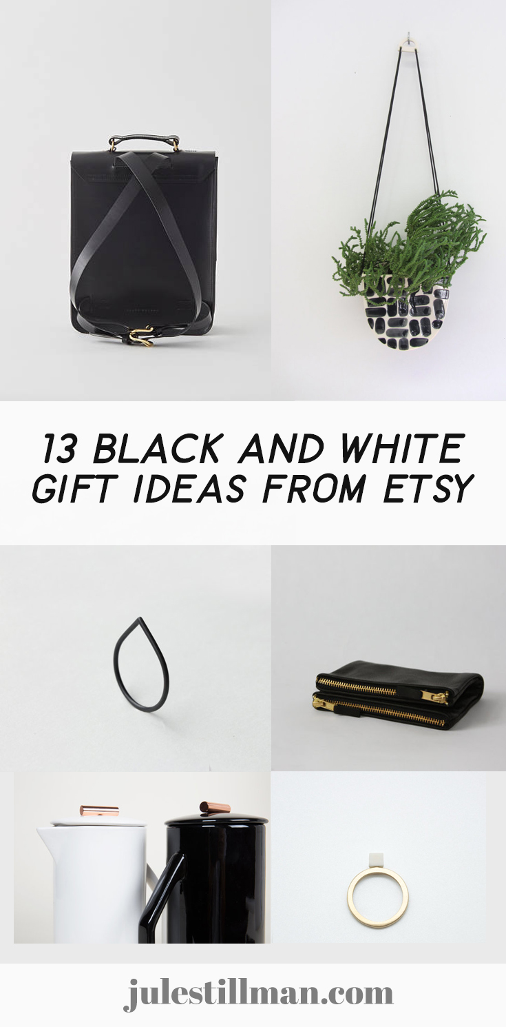 13 Black and white gift ideas from Etsy