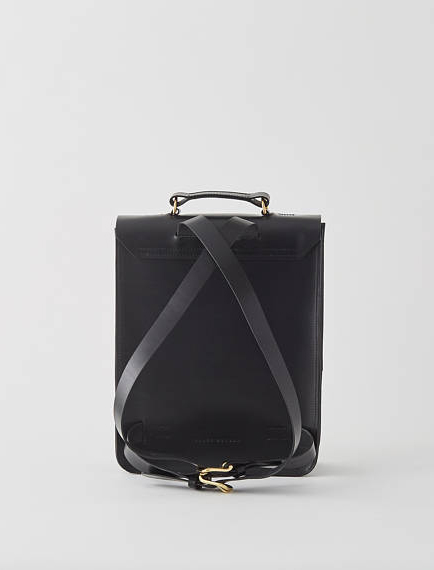 13 Black and white gift ideas from Etsy: Emma - Boxy Black Leather Backpack from GRACEGORDONLDN