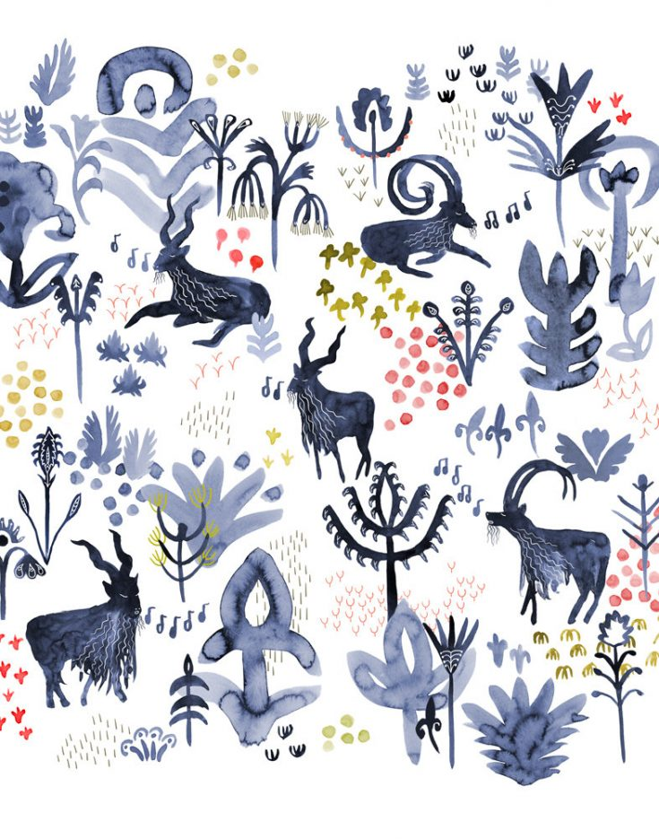 "Illustrations You'll Love to Gift or Get: ""Whistling Goats"" by Katie Vernon"