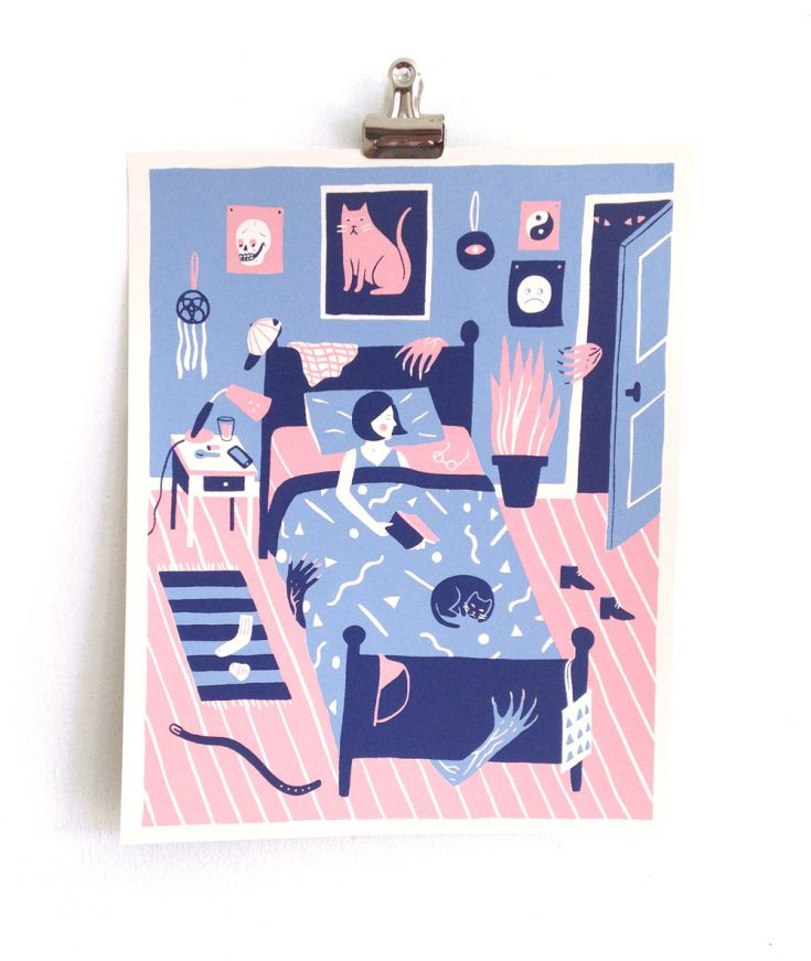 "Illustrations You'll Love to Gift or Get : ""Night Terrors"" by triangletrees on Etsy."