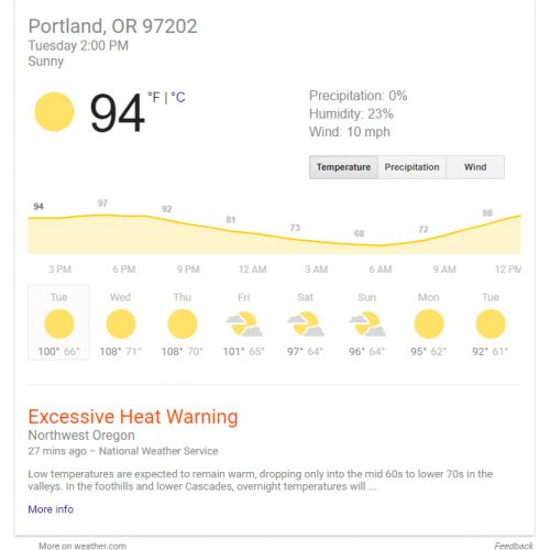 What's up with this, Portland?! This is NOT normal for us!